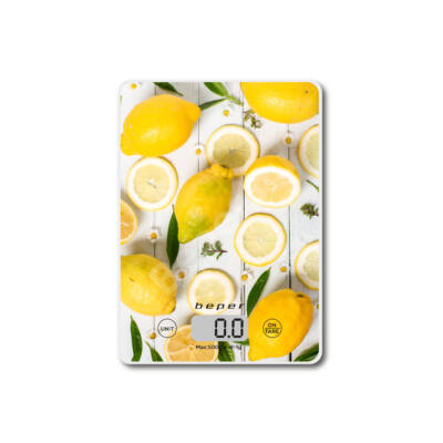 Beper BP.800 Digitális konyhai mérleg – citromos